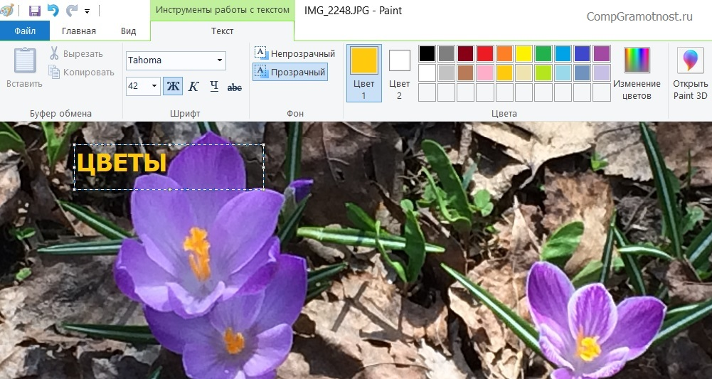 Paint в Windows 10