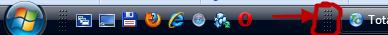 изменить размер панели задач Windows 7