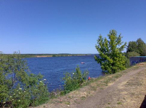 Набережная Волги в Дубне Московской области
