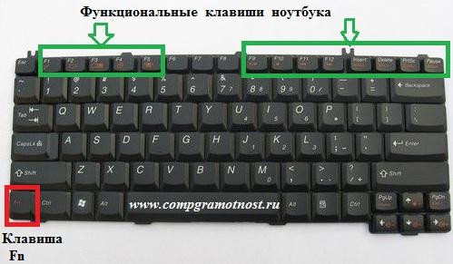 клавиша fn на ноутбуке hp как включить