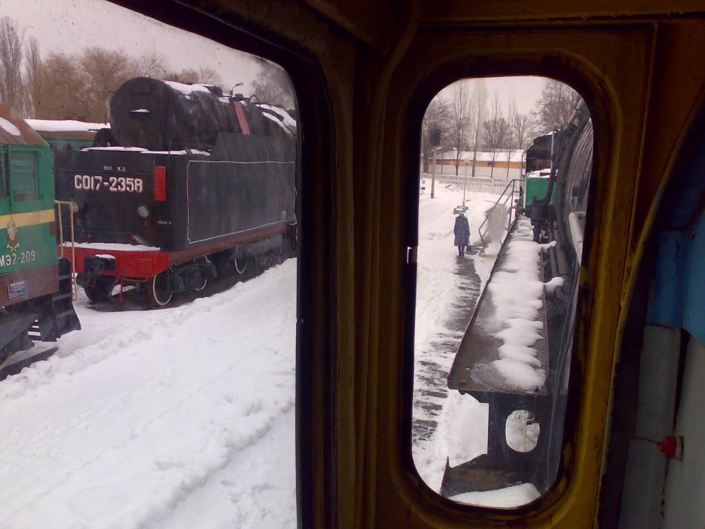 Вид из окна кабины машиниста