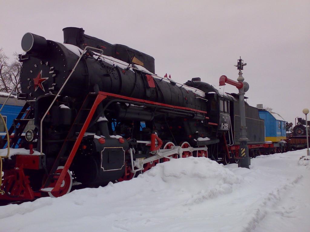 Самый старый поезд в Брестском железнодорожном музее