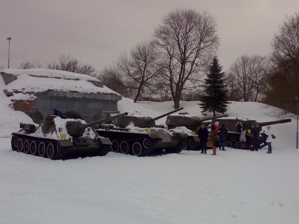 Экспозиция Танки в Брестской крепости