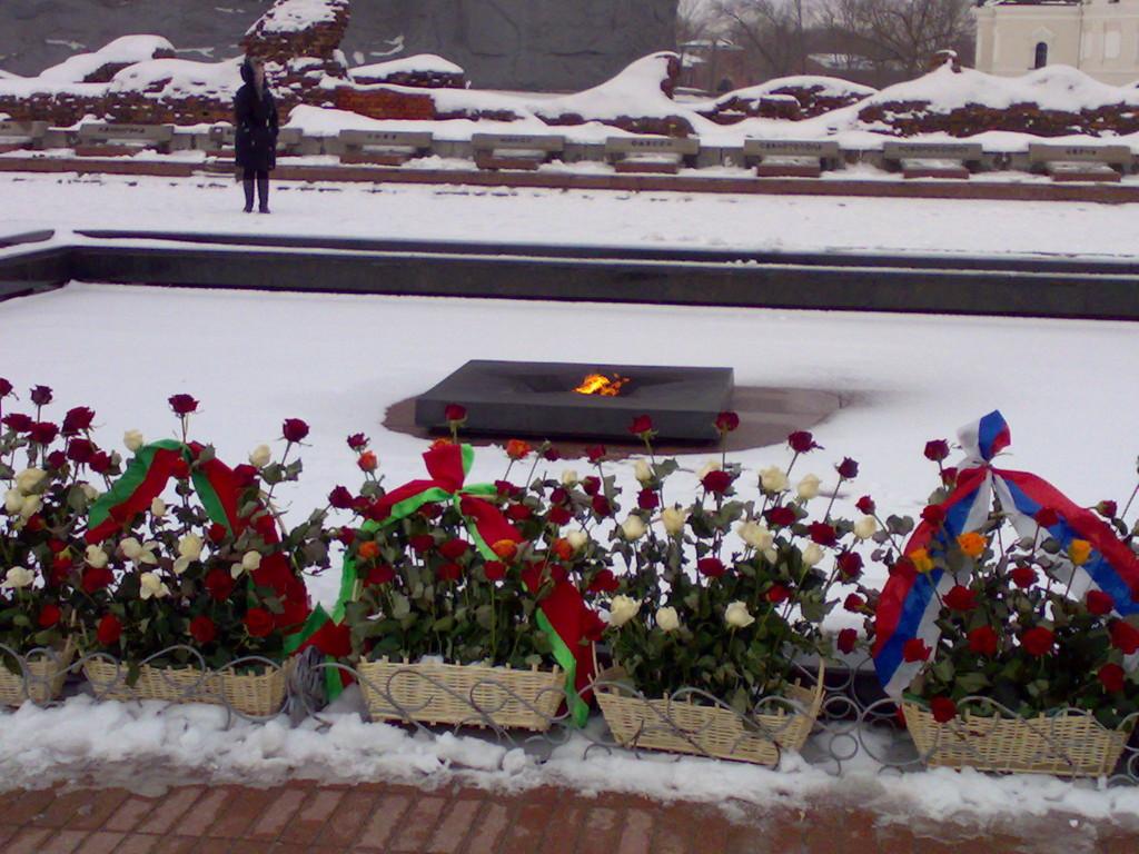 Вечный огонь в Брестской крепости