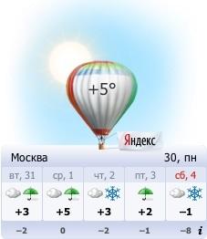 """Виджет Яндекса """"Погода"""" на Рабочий стол"""