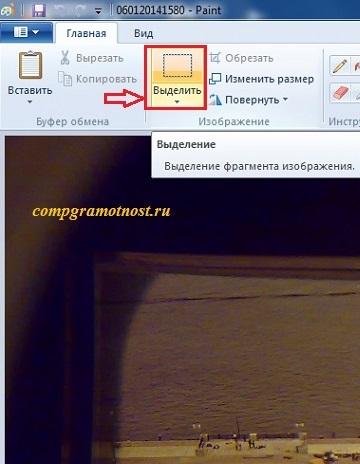 скрин оцифровки слайдов с его выделением