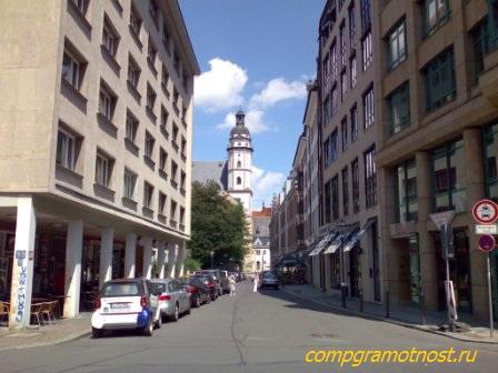 вид на церковь Баха в Лейпциге