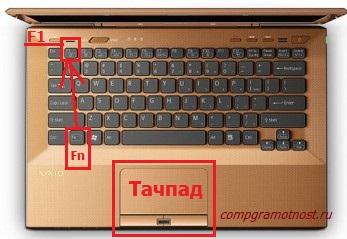 Выключение ноутбука с клавиатуры