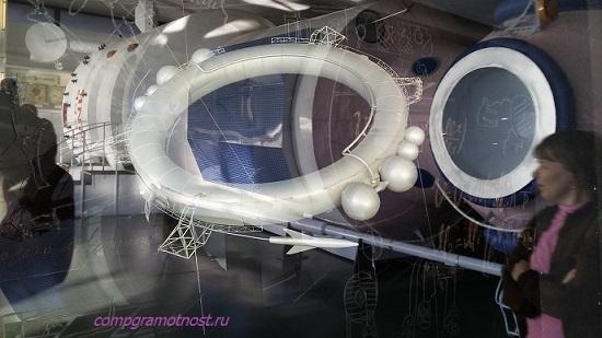 коллаж в музее космонавтики Калуга