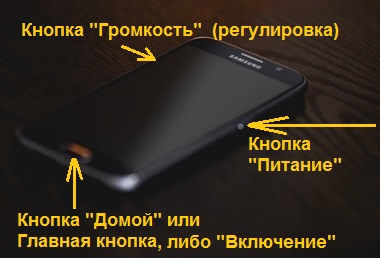 скриншот кнопками на телефоне Samsung