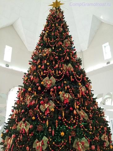 Новогодняя елка с 2016-ю игрушками