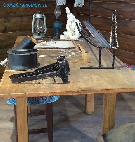 стол рабочего для изготовления стеклянных игрушек