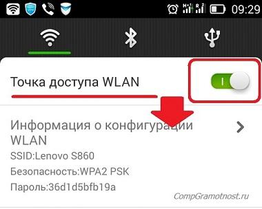 Андроид Точка доступа WLAN