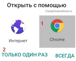открыть ссылку с помощью Chrome
