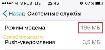 системные службы на Айфоне