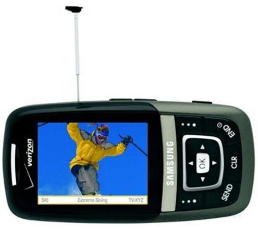 Сотовый телефон с антенной