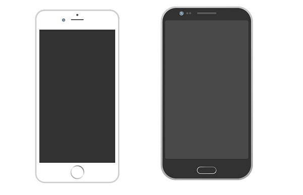 смартфоны Айфон и Андроид