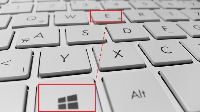 клавиши Win+E открыть Проводник в Windows 10