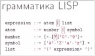 Программа на LISP