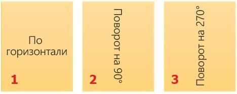 3 варианта расположения текста с помощью Надписи