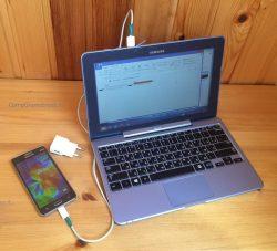 подключение телефона к USB порту компьютера