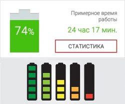 какие приложения расходуют заряд батареи Андроид