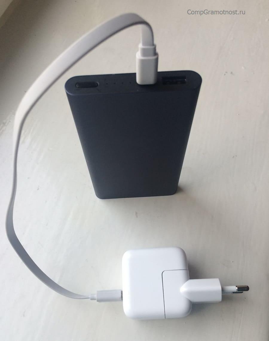 Аккумулятор для зарядки смартфонов с зарядным устройством