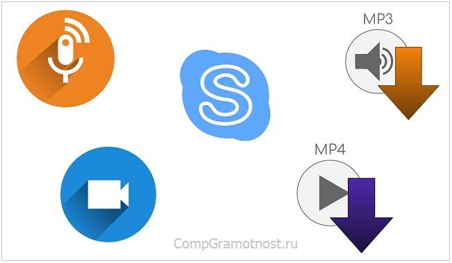 записать сообщение в Skype на компьютере