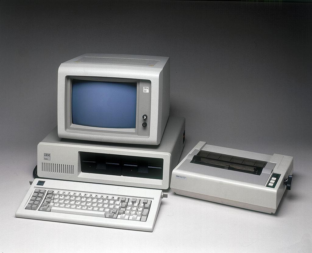 IBM PC 5150 с принтером